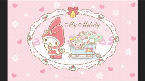My Melody is dressed up for cold weather!