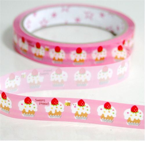 pink cupcake Deco Tape cake kawaii cute