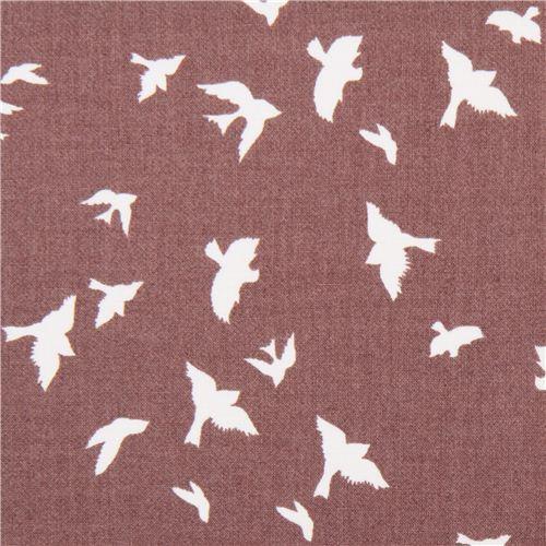 taupe bird martin fabric by Michael Miller flight USA