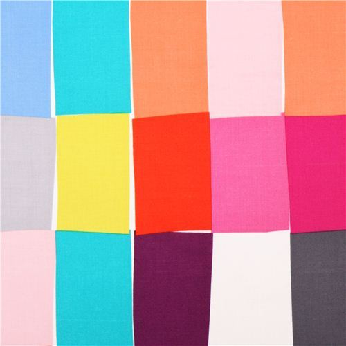 Paint Chips Brite colorful rectangles fabric Michael Miller