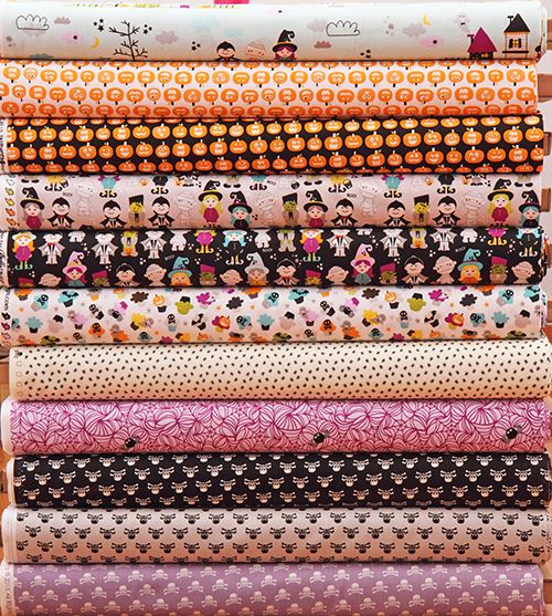 We love Halloween and the new Halloween fabrics in our shop.