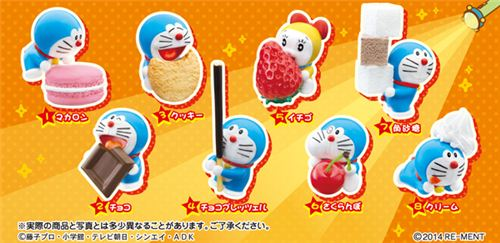 Doraemon Mini snack time pastry Re-Ment miniature blind box