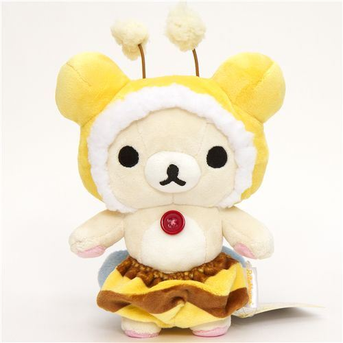 Rilakkuma plush toy white bear as honey bee