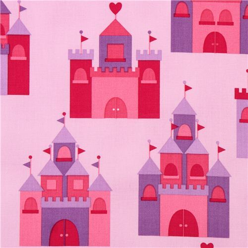 pink purple princess palace fabric Spring by Robert Kaufman USA