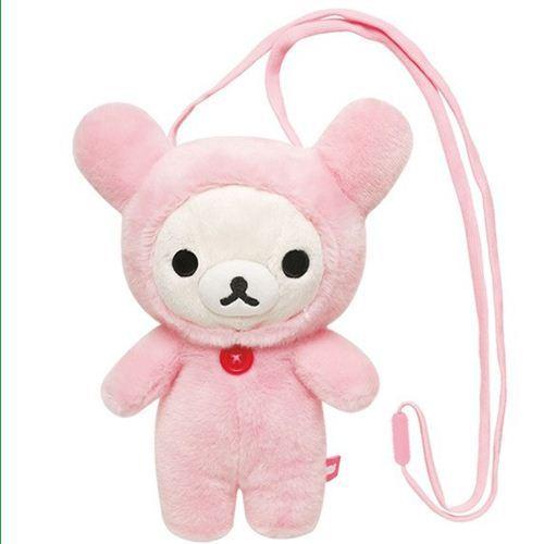 Rilakkuma white bear plush pouch bag by San-X