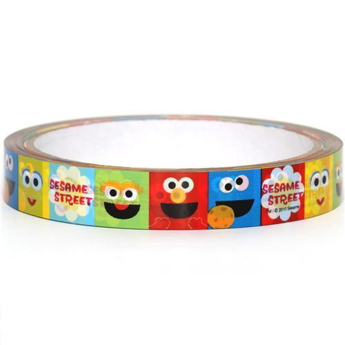cute Sesame Street Sticky Deco Tape Elmo Cookie Monster