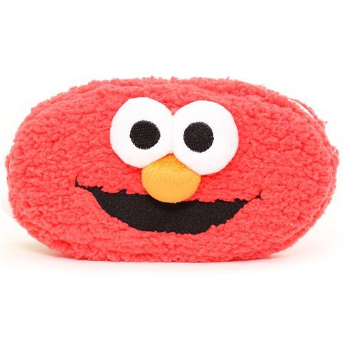 red Sesame Street Elmo reversible plush pencil case Muppet
