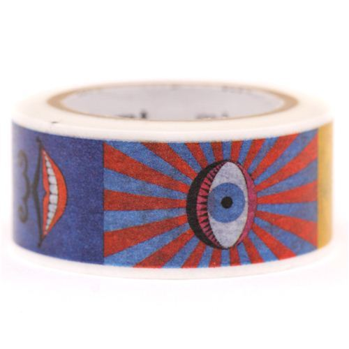 mt Washi Masking Tape deco tape designer art surrealist eye and mouth