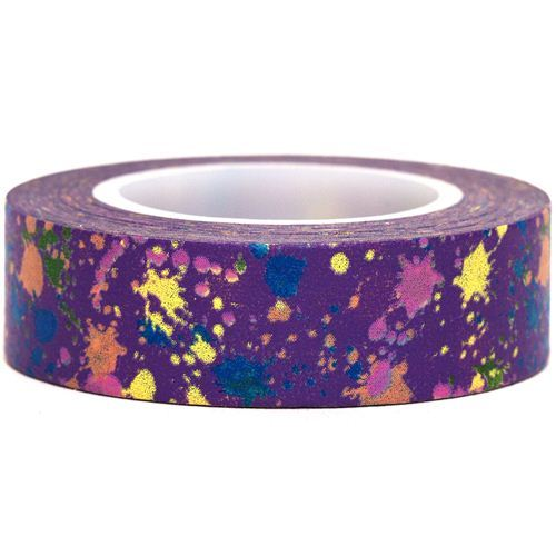 purple Washi Masking Tape deco tape colourful spots