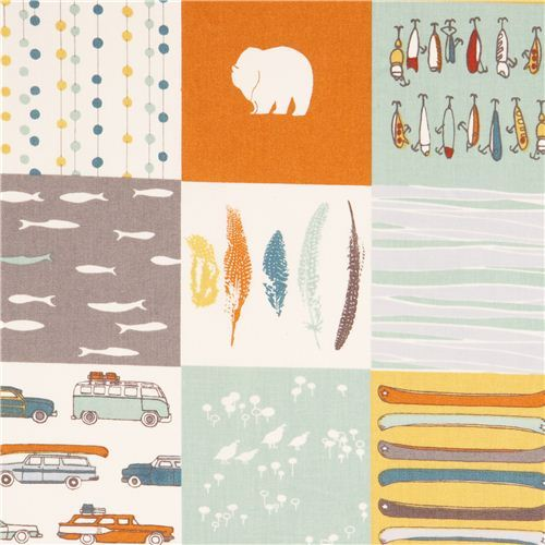 Feather River Patch Patchwork camping forest poplin organic fabric birch USA