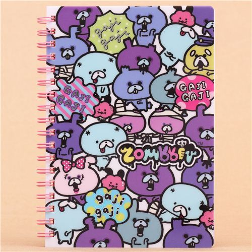 funny Zombbit zombie rabbits ring binder notebook