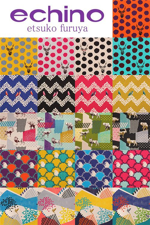 We now have the beautiful 10th Anniversary echino fabric collection in our shop