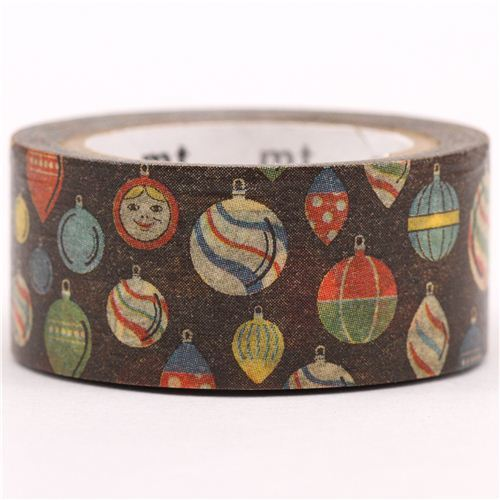 Christmas Tree Ornament Christmas mt Washi deco tape gold metallic