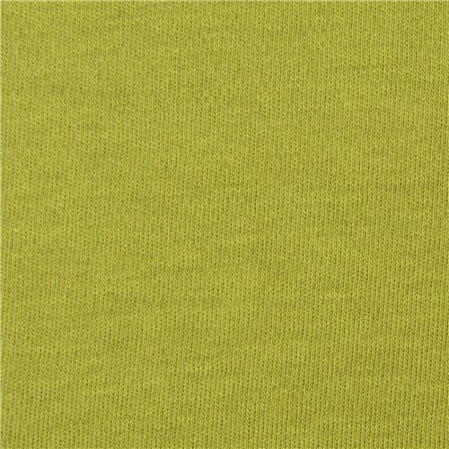 solid light green birch knit organic fabric from the USA