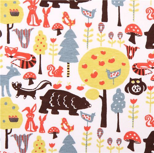 Swedish forest knit monaluna animal organic knit fabric
