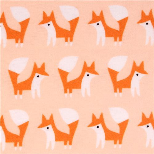 Cloud 9 fox forest animal organic flannel fabric Fanfare