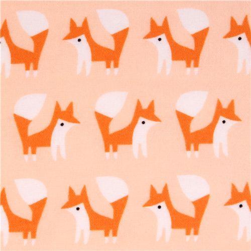 Cloud 9 fox forest animal organic flannel fabric Fanfare