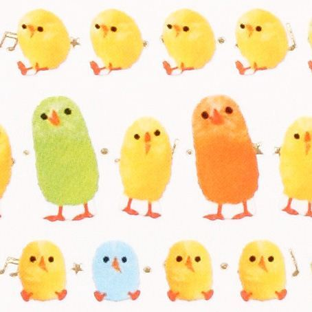 kawaii small colourful chick stickers from Japan