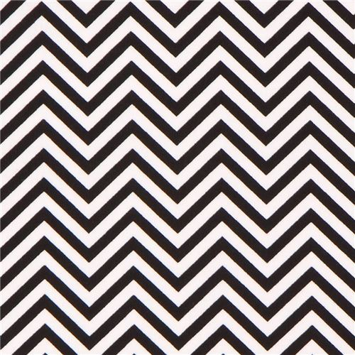 Robert Kaufman thin zig zag chevron fabric black white Remix