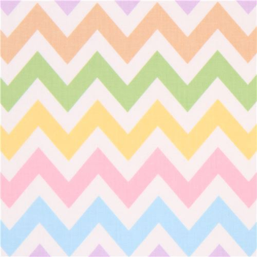 Robert Kaufman zig zag chevron fabric light purple light blue Remix