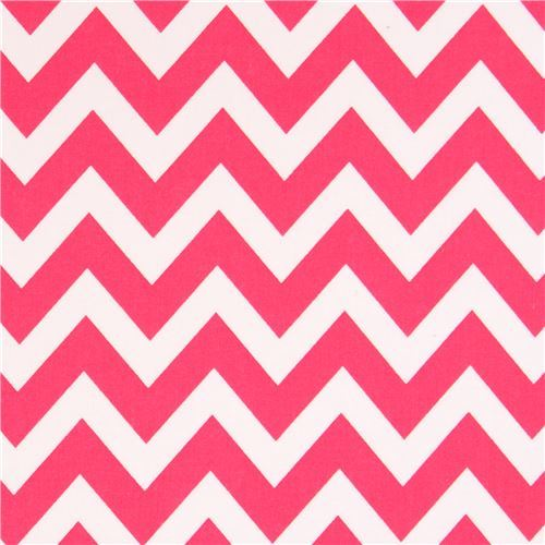 Robert Kaufman zig zag chevron fabric pink-white Remix