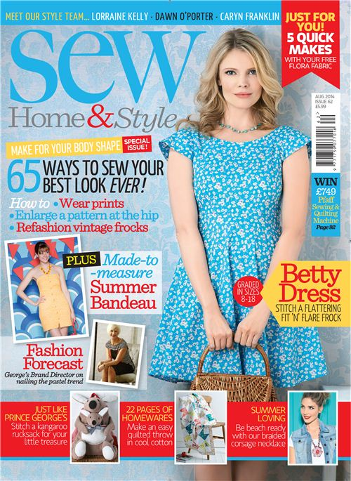 Some of our summer fabrics are featured in the August issue of Sew Magazine
