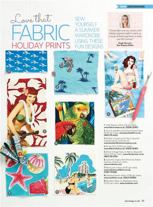 Fabrics no. 6 and 9 are from modes4u.com