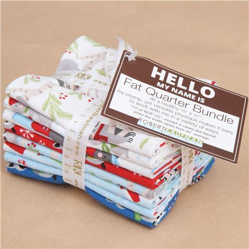 Fat Quarter fabric bundle Frosty Friends Robert Kaufman