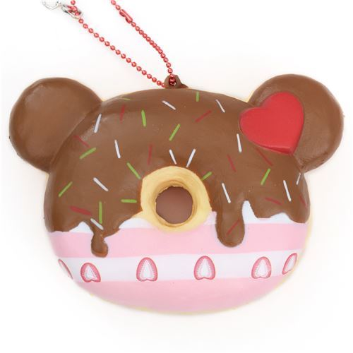 cute bear shape brown icing Christmas donut scented squishy by Puni Maru