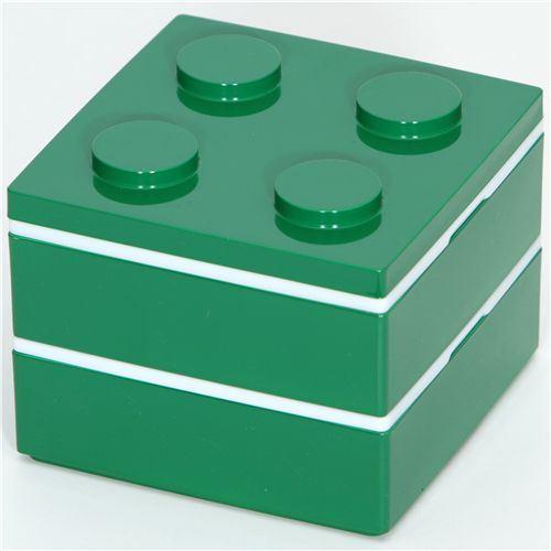 funny green Lego brick Bento Box from Japan