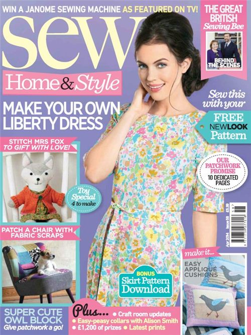 Our Mt. Fuji Fabric is featured in the April issue of UK based Sew Magazine