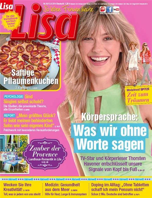 Issue 24/2014 of German magazine LISA features our eraser