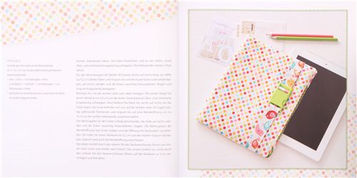 eReader / tablet skin made with our Riley Blake polka dot fabric