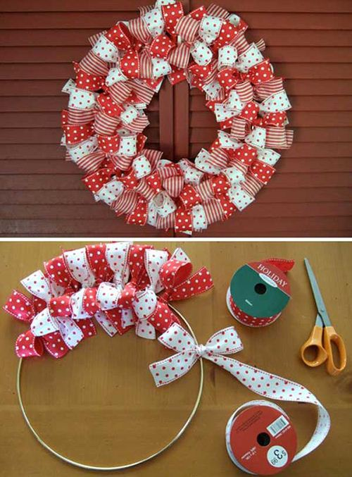 DIY ribbons for a self-made wreath. Being creative can be so simple.