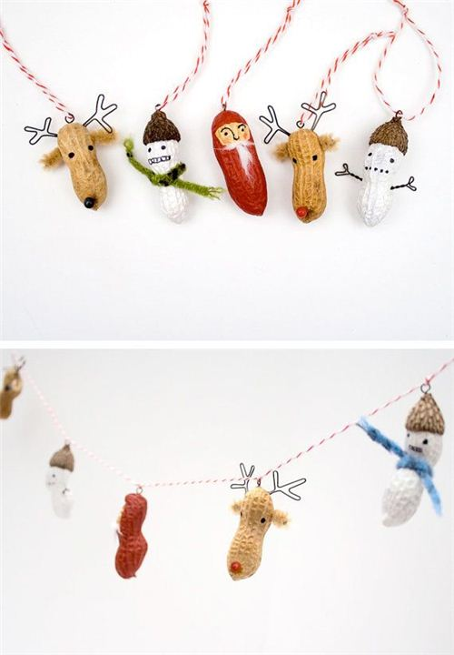 Fun Christmas peanut chain on Pinterest