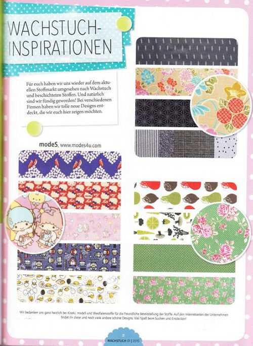 Great to see many of our laminates featured in a sewing magazine.