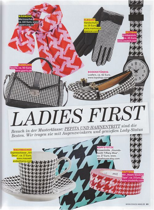 The cool houndstooth masking tape is from modes4u.com