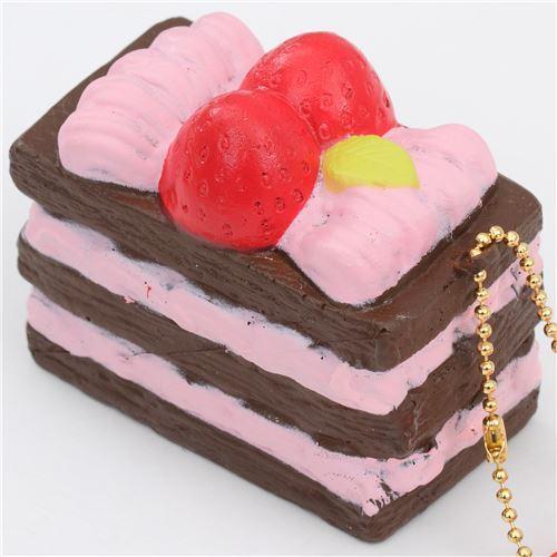Premium Cafe de N cute brown pink mille-feuille pastry squishy charm kawaii