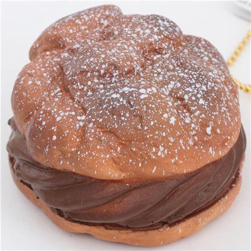 cute big brown cream puff squishy charm kawaii