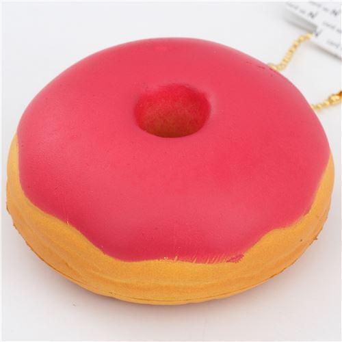 cute donut red icing squishy charm kawaii