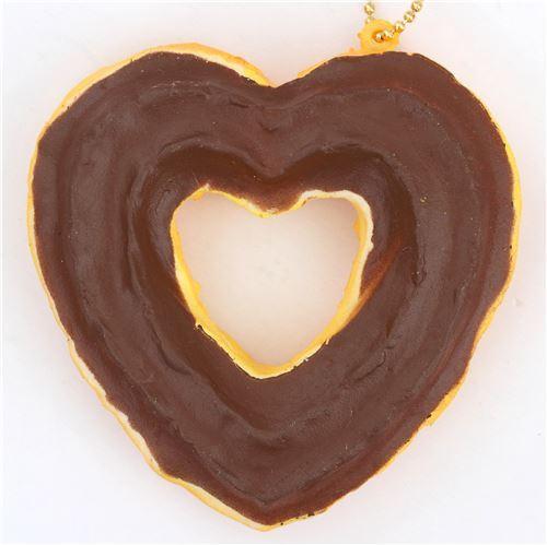 cute brown sauce heart shape churro squishy charm kawaii