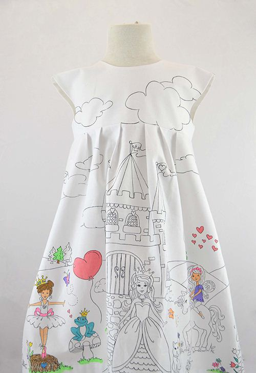 A lovely princess and castle dress. It's never been so easy to create individual garment.