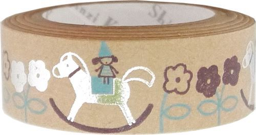 brown rocking horse silver metallic craft Tape deco tape Shinzi Katoh Japan