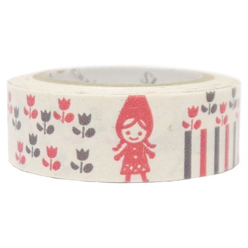 white Little Red Riding Hood Banana Paper Washi Masking Tape deco tape
