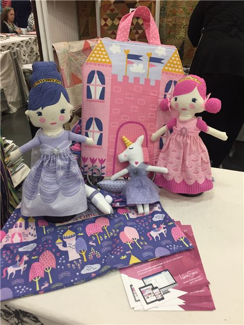 Cute dolls made from Moda fabrics