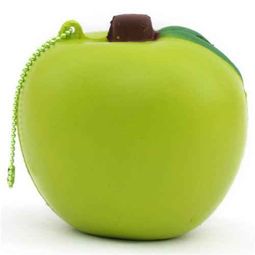 cute lime green apple with green chain food squishy kawaii