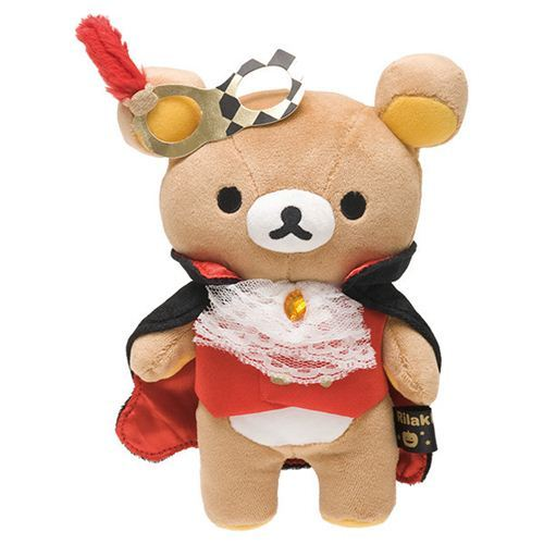 Rilakkuma Halloween Party brown bear plush toy San-X