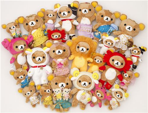 We are one of the few international shops worldwide allowed to sell the limited Rilakkuma zodiac signs edition
