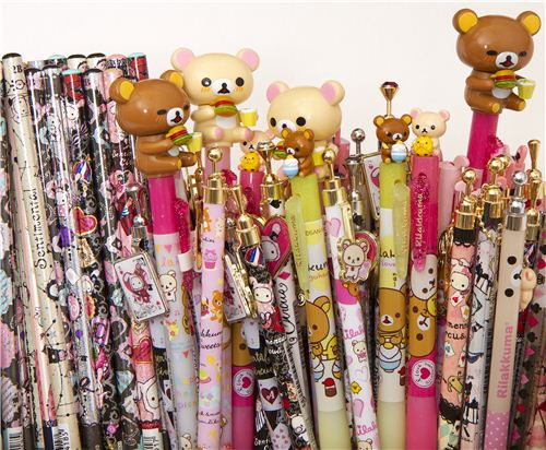 There are more than 250 pens and pencils by San-X in our shop