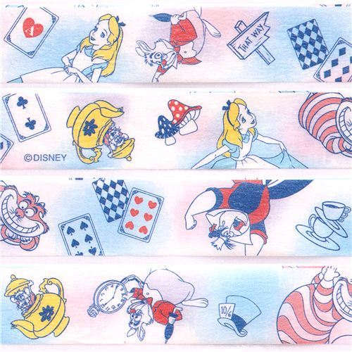 Disney Alice in Wonderland fairy tale Washi Masking Tape